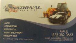 National Glass & tint Logo