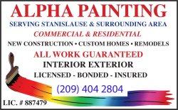 Alpha Painting Logo