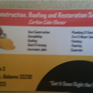 Cd Construction, Roofing and Restoration Services Logo