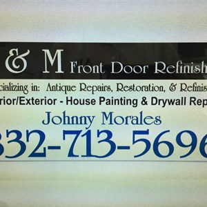 J & M Front Door Refinishing Logo