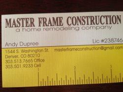 Masterframe Construction Inc Logo