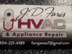 J.d. Faris Hvac & Appliance Repair Logo