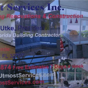 Utmost Services Inc. (Sunrooms, Kitchens, Outdoor Kitchens, Screen Enclosures, Screen Rooms, Renovations, Hurricane Protection, Additions, offices, custom homes) Cover Photo