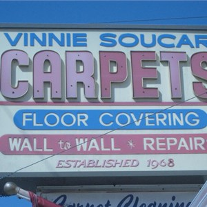 Vinnie Soucar Carpets & Floor Coverings Logo