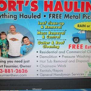 Corts Hauling & Cleanup Logo