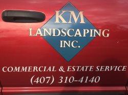 Km Landscaping, Inc. Logo