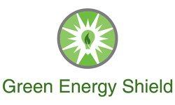 Green Energy Shield Logo