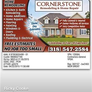 Cornerstone Remodeling & Repairs Cover Photo