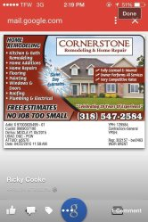 Cornerstone Remodeling & Repairs Logo
