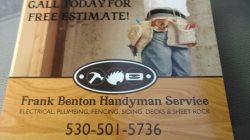 Frank Bentons Handyman Service Logo
