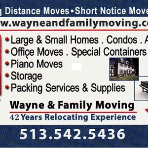 Wayne & Family Moving Services Cover Photo