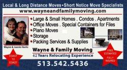 Wayne & Family Moving Services Logo