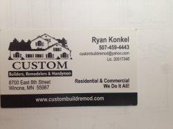 Custom Builders Remodelers Handyman Logo