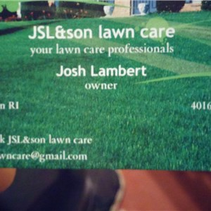 J.s.l & son Lawn Care Logo