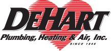 Dehart Plumbing, Heating And Air Logo