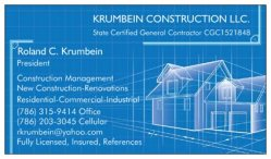 Krumbein Construction Llc. Logo