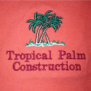 Tropical Palm Construction Logo