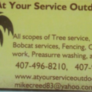 A Your Service Outdoors Inc. Logo