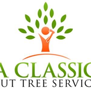 A Classic Cut Tree Service Logo