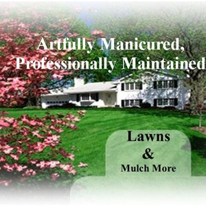 Lawns & Mulch More Logo
