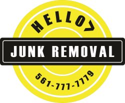 Hello! Junk Removal Logo