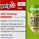 A&k Cleaning Logo