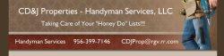 Cd&j Properties - Handyman Service Logo