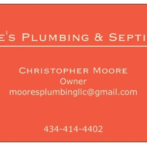 Moores Plumbing & Septic Cover Photo