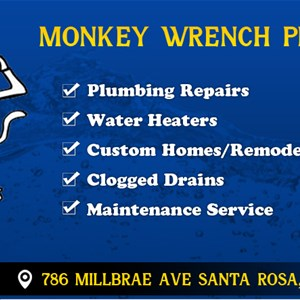Monkey Wrench Plumbing Cover Photo