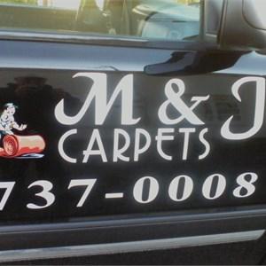 M & J Carpets Logo