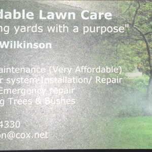 Affordable Lawn Care Logo
