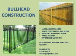 BULLHEAD CONSTRUCTION Logo