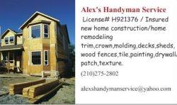 Alexs Handyman Service Logo