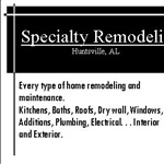 Specialty Remodeling Cover Photo