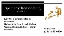Specialty Remodeling Logo