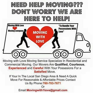 Moving With Love Moving Company Logo