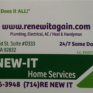Re-New-It home services Logo