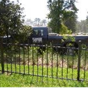 Black Aluminum Fence Contractors Logo