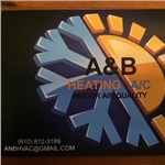 A & B Heating & Air Conditioning Logo