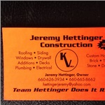 Jeremy Hettinger Construction, LLC Cover Photo