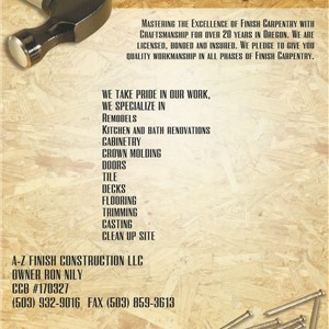 Az Finish Construction LLC Logo