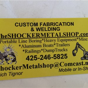 The Shocker Metalshop LLC Welding Cover Photo