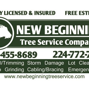 New Beginning Tree Service Company Logo