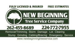 New Beginning Tree Service Company Logo