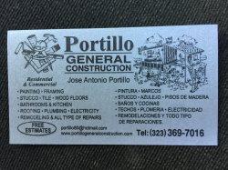 Portillo General Construction Logo