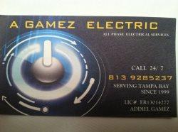A GAMEZ  ELECTRICAL LLC Logo
