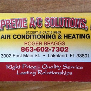 Supreme AC Solutions, LLC Cover Photo