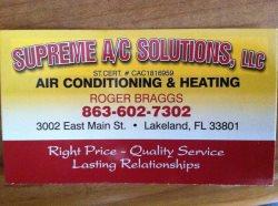 Supreme AC Solutions, LLC Logo