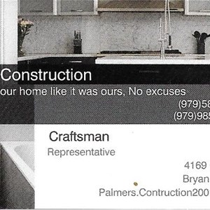 Palmers Construction Cover Photo