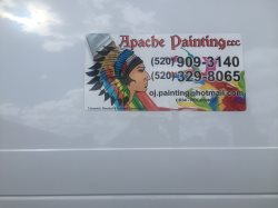 Apache Painting Llc Licensed Bonded Insured CR34 Roc#209620 Phone#520 909 3140 520 329 8065 Logo